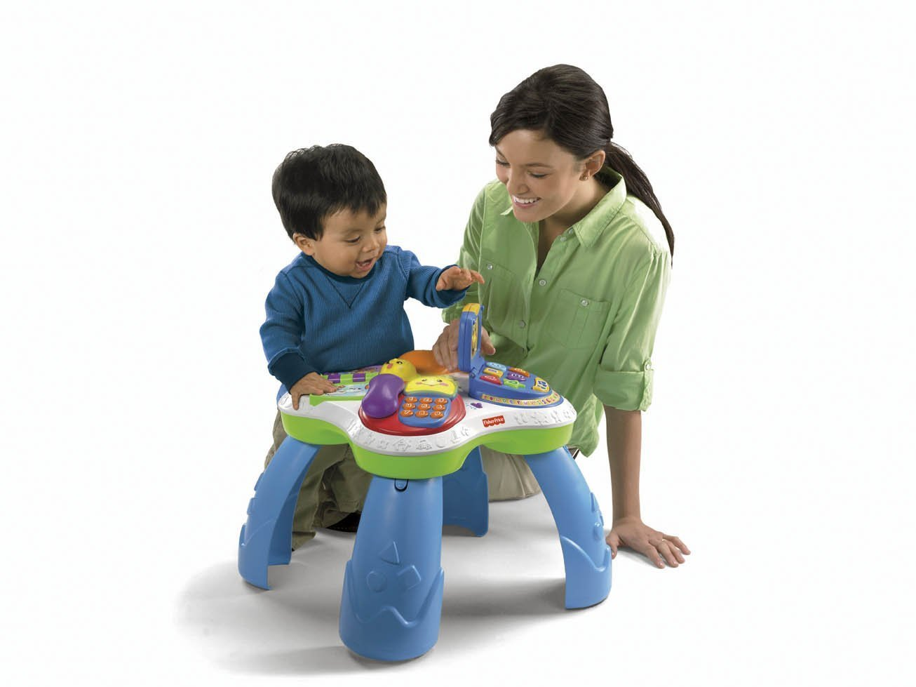 Amazon.com: Fisher Price Laugh U0026 Learn Fun With Friends Musical Table  Activity Center: Toys U0026 Games
