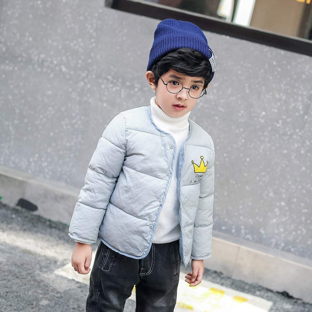 Dacawin Clearance Kids Winter Cartoon Thick Warm Windproof Cotton Coat Jacket for Girls Boys