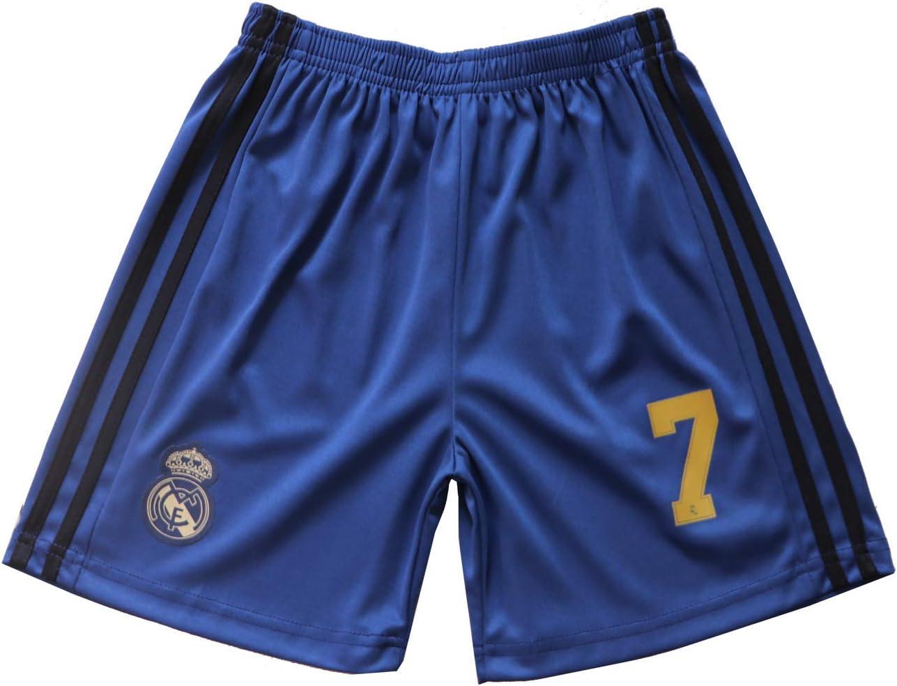 GamesDur 2019//2020 Real Madrid Hazard #7 Away Third Soccer Kids Jersey /& Short /& Sock /& Soccer Bag Youth Sizes