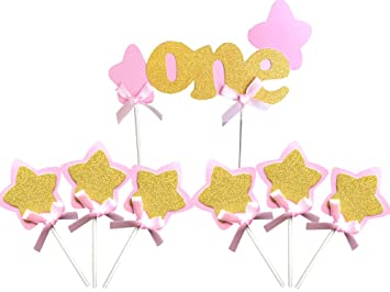 amazon com kapok life pink and gold 1st first girl birthday cake