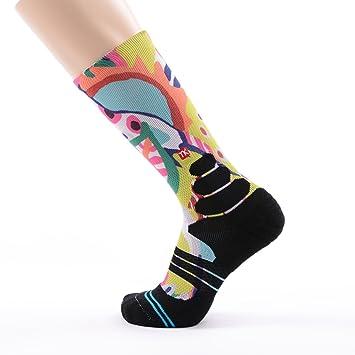 Calcetines de compresión estampados, MEIKAN COOLMAX calcetines de moda,mantiene la calidez, Amortiguación,se secan rápidamente, transpirables, ...