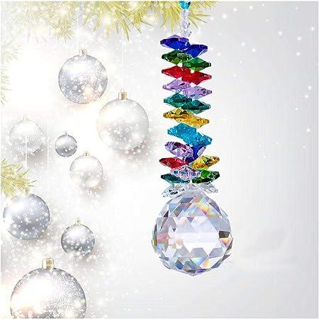 Chakra Cascade Window SunCatcher Rainbow Maker Large Hanging Crystal Ball