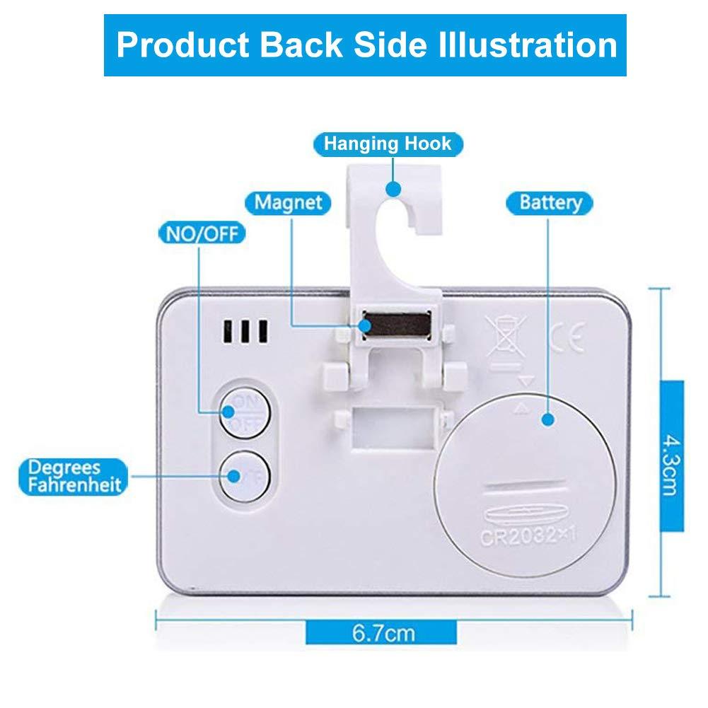 Compra [Mejorado] Termómetro para refrigerador Termómetro para ...