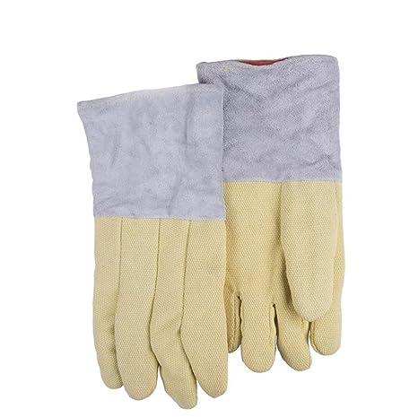 equipo de protección guantes de alta temperatura de los guantes de soldadura ignífugo soldador con aislamiento
