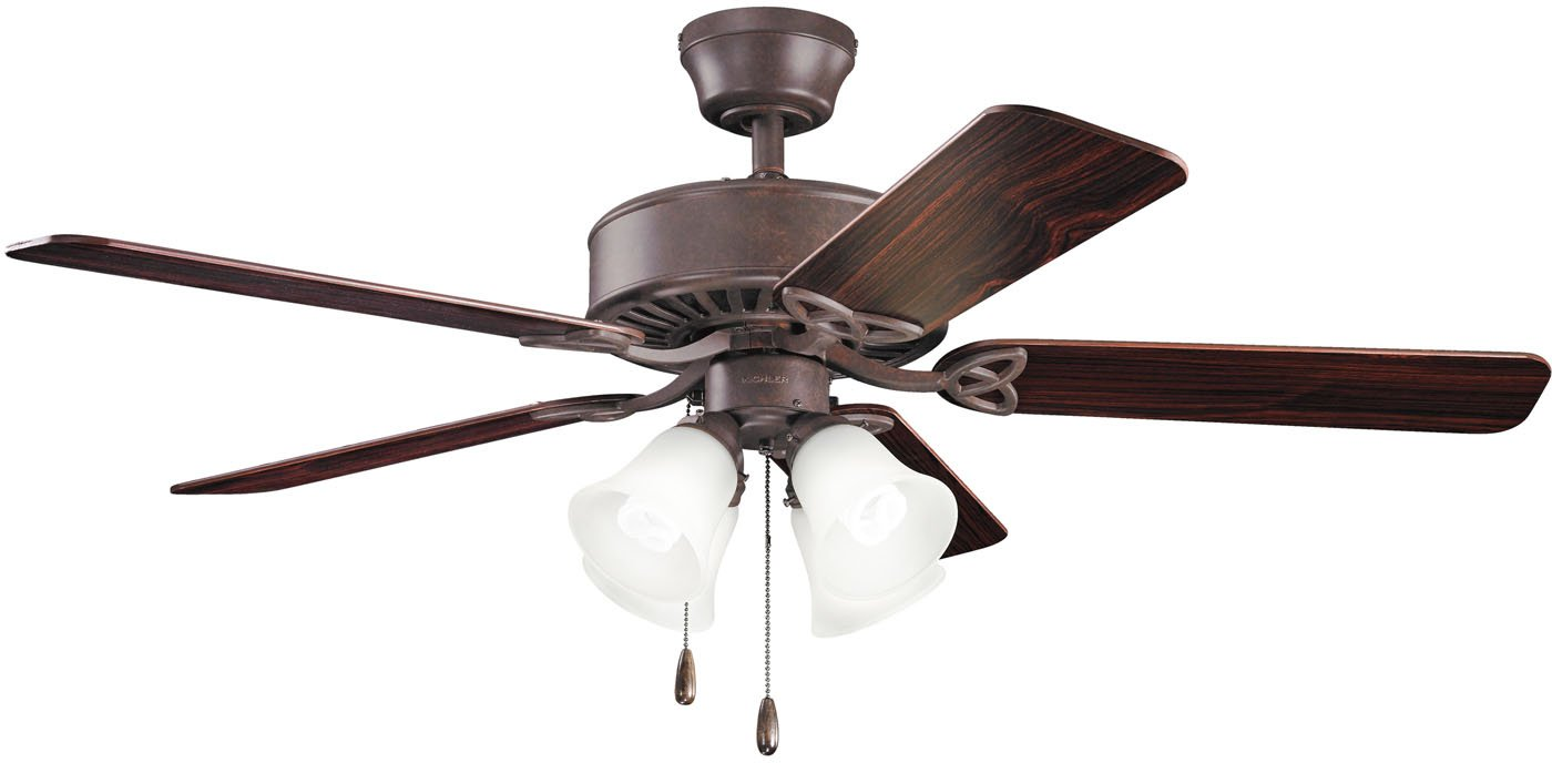 Hunter Indoor Ceiling Fan, with pull chain control – Studio Series 52 inch, White, 53062