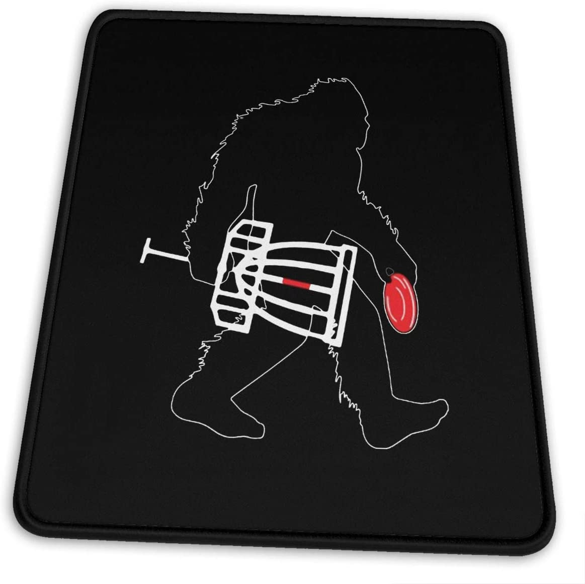 Bigfoot Carry Disc Golf Mouse Pad, Non-Slip Rubber Mouse Mat Cute Gaming Mousepads for Laptop and Computer 10x12x0.12inch