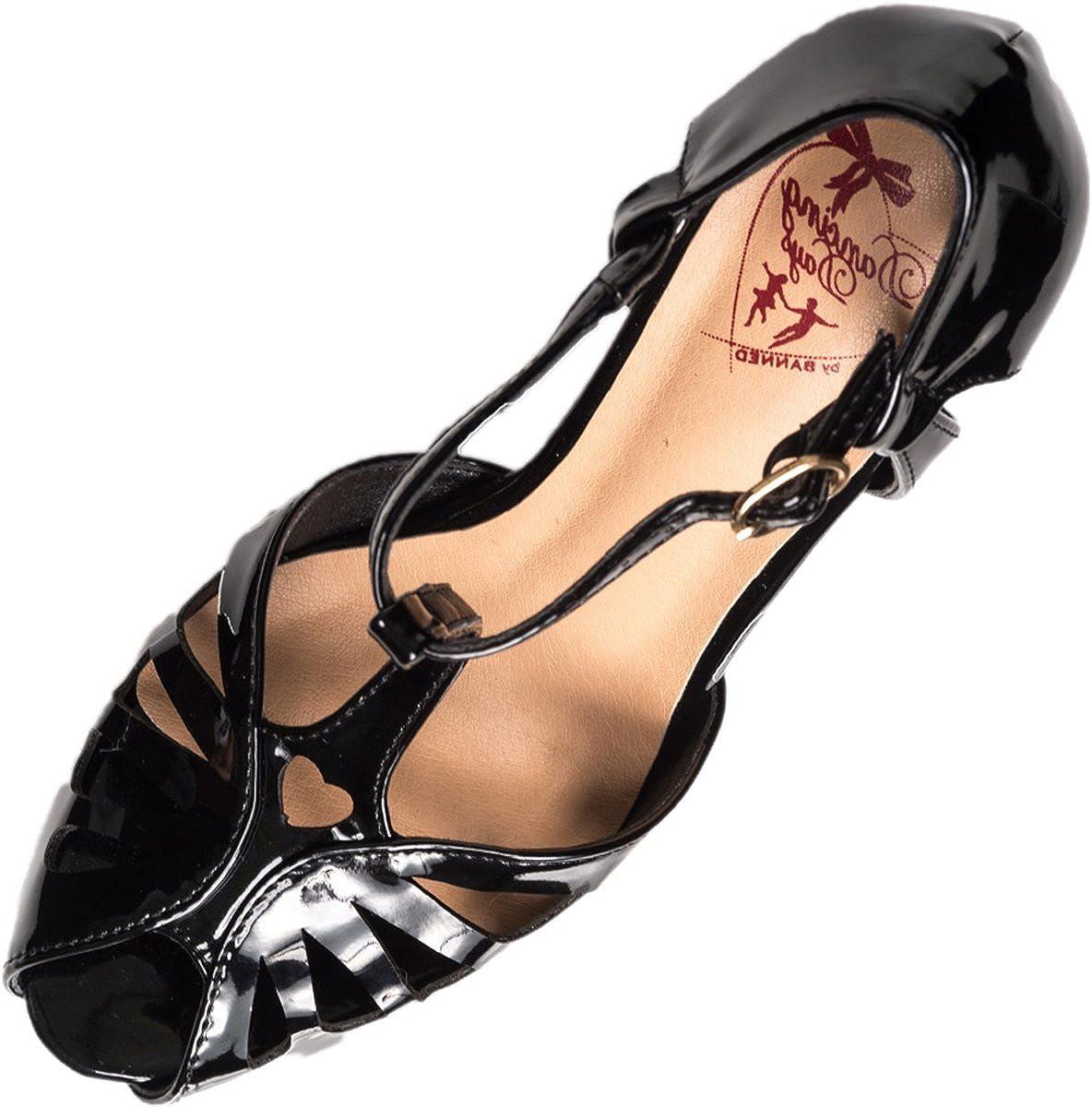 Dancing Days Damen Schuhe Secret Love Riemchen Peeptoe Pumps T-Spange T-Spange T-Spange e5bcf5