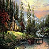 Fairylove 40 x 50 Paint by Numbers for Adults DIY Oil Painting , Cabin in the Woods