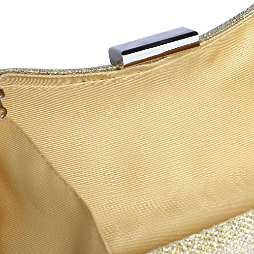 With Design New Chain Wedding Ivory party Bag Handbag Womens Glitter 1 Clutch Evening Look New Designer 0OqnzU8