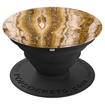 Grunge Rose Gold Marble Design Print On Black   Pop Sockets Grip And Stand For Phones And Tablets by Marbel Fanatic Shop.Co