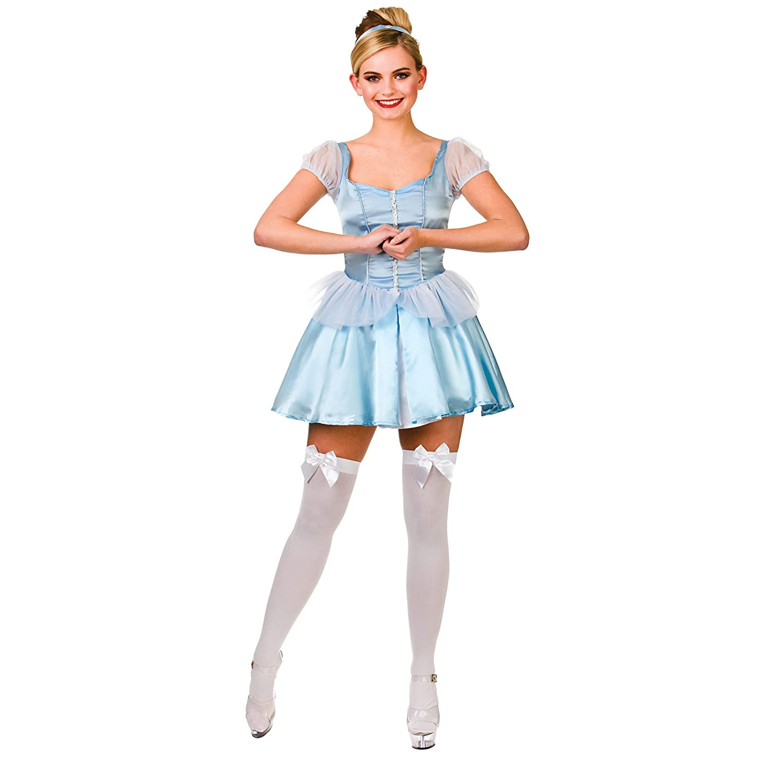 Ladies Cute Cinders Cinderella Fancy Dress Up Party Halloweeen Costume Outfit Amazon.co.uk Clothing  sc 1 st  Amazon UK & Ladies Cute Cinders Cinderella Fancy Dress Up Party Halloweeen ...