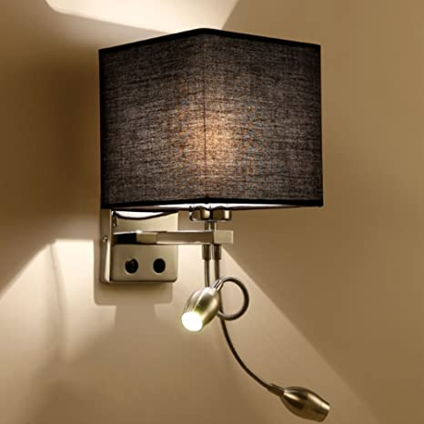 Led Indoor Wall Lamps Iron Wall Lamp Simple Style Decoration Double Bulb E27 Switch Lighting Bedroom Reading Bedside Light Led Lamps Modern Led Frosted Glass