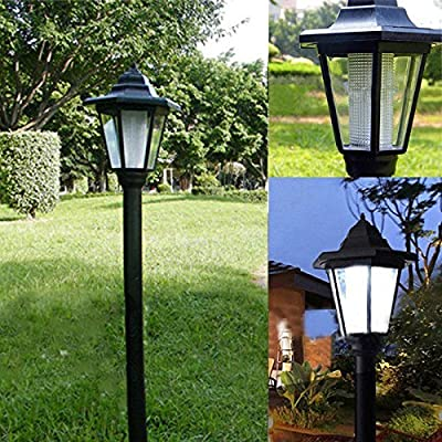New Solar Power LED Path Way Wall Landscape Home Garden Fence Outdoor Lamp Light