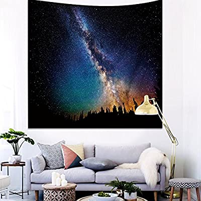 Wall Art Tapestry Galaxy Wall Hanging Universe Stars Outer Space 3D Print Nature Tapestry Home Decor, Modern Art for Living Room, Bedroom, Dorm