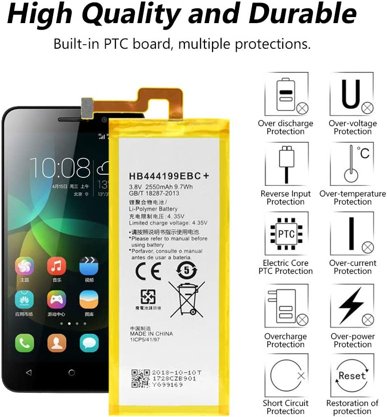 Powery Bater/ía para Smartphone Huawei RIO-L01