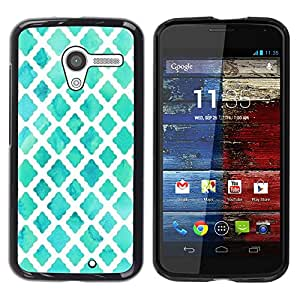Impact Case Cover with Art Pattern Designs FOR Motorola Moto X 1 1st GEN I White Watercolor Blue Baby Betty shop