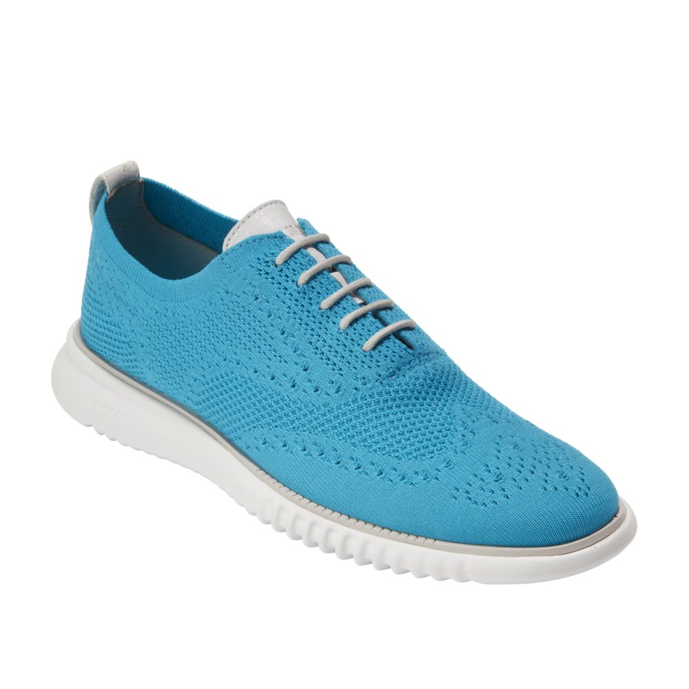 Cole Haan Men's 2 Zerogrand Oxford with Stitchlite 11 Atomic Blue Knit-Vapor Gray by Cole Haan (Image #3)