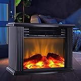 سخان كهربائي صغير 1000W صغير للمنضدة وغرفة المعيشة والشتاء الدافئ - أسود *قابس الاتحاد الأوروبي