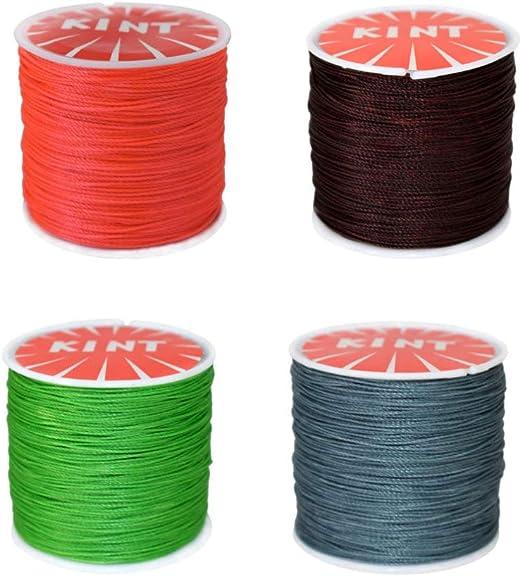 SUPVOX cordón de algodón encerado cuero de coser hilo de cera ...