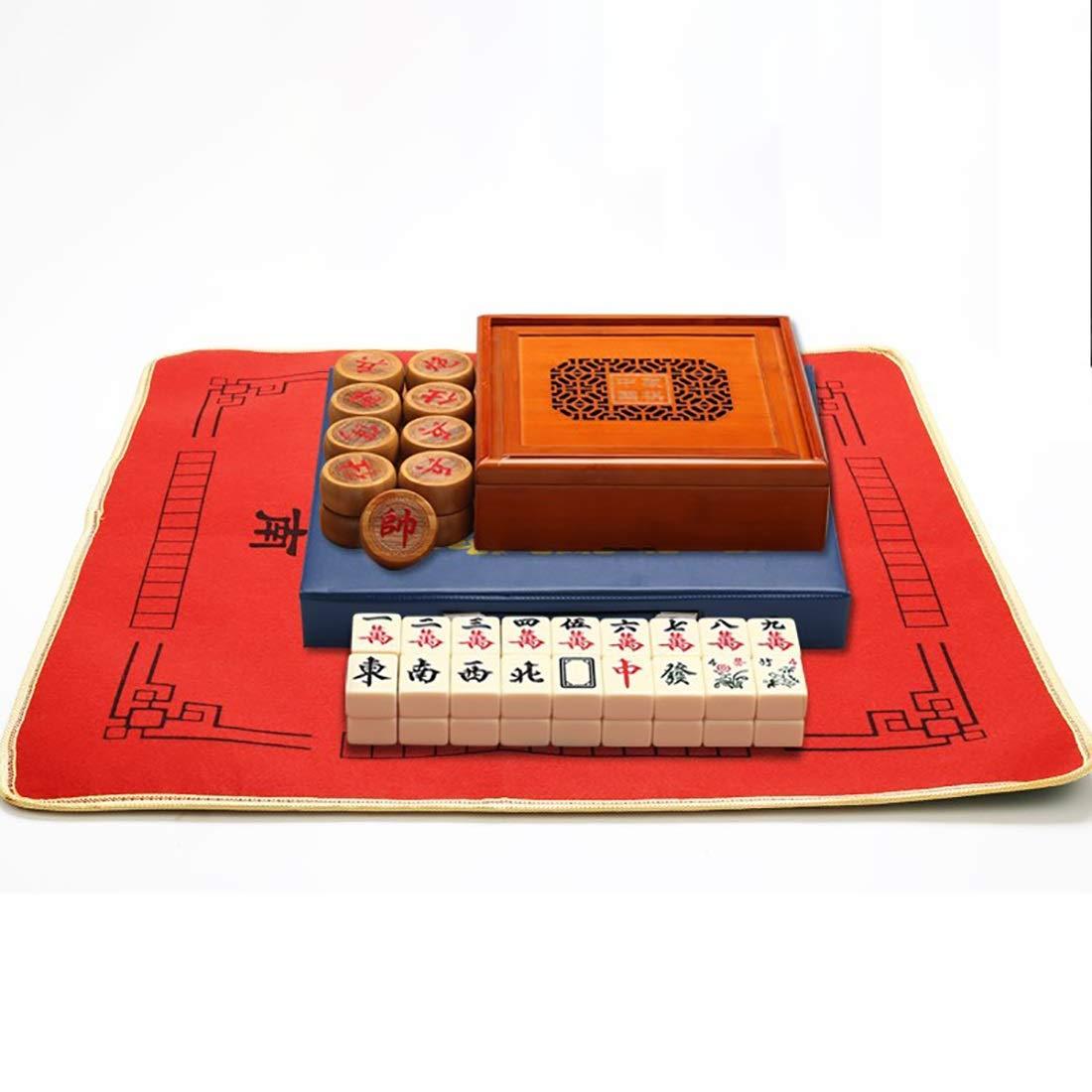 NuoEn Mahjong Spiel Hochwertiges Acrylmaterial Geist Spiele Freizeit Reise Spiel Set 39  28  19mm ( Farbe   Mahjong ) Mahjong+cloths+chess