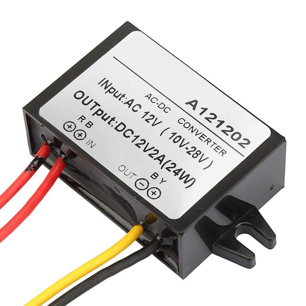 AC 10-28V auf DC 12V Abw/ärtswandler AC-DC-Abw/ärtsstromversorgungsmodul f/ür Auto-Bildschirm und Monitorkamera usw 2A
