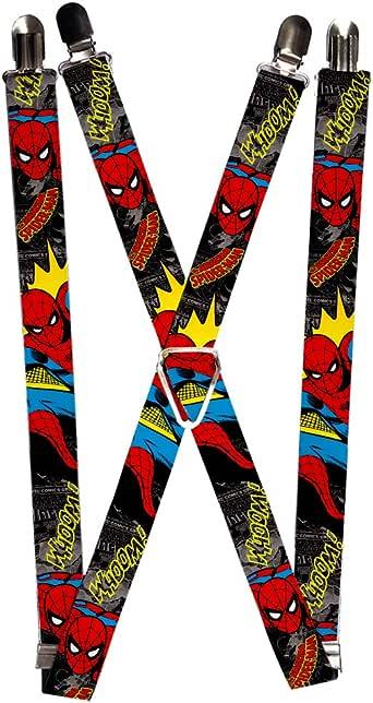 Buckle-Down Mens Suspender-Spider-Man Multicolor One Size