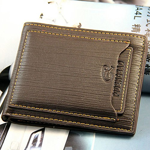 High Quality Men's Bifold Leather Wallet ID Credit Card Holder Billfold Purse Clutch,3-7 Days Delivery. (Decor Floor And Card Credit)