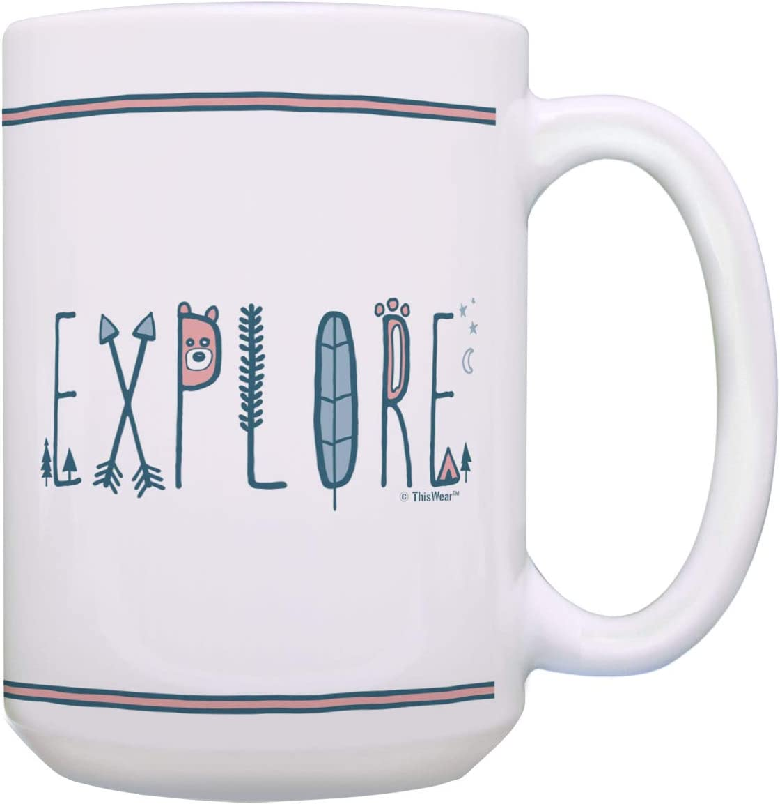 Amazon Com Camping Gifts Explore Coffee Mug Outdoor Word Art Hiking Mug Explore Gift Coffee Mug Tea Cup White Kitchen Dining