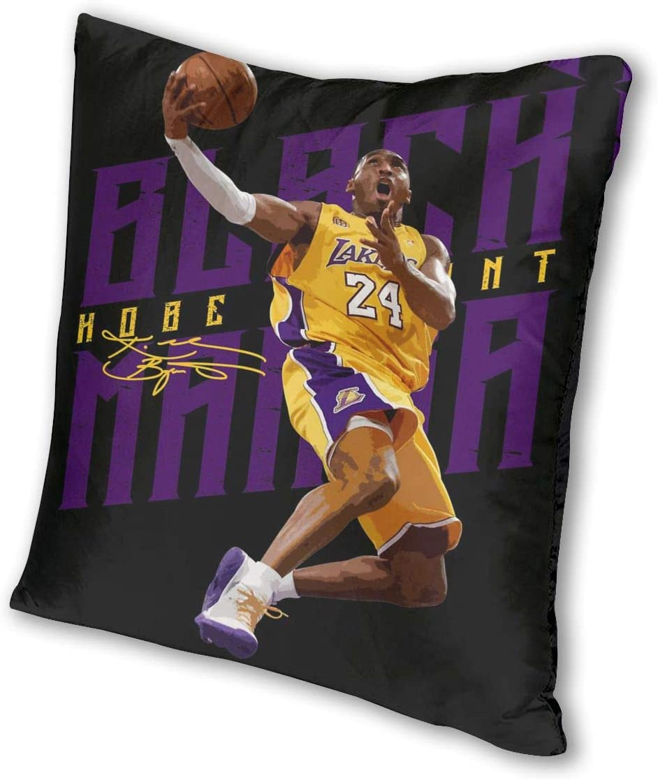 KOBE BRYANT LAKERS DECOR ZIPPERED PILLOW CASE COVER