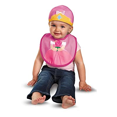Disguise Baby Girl's Disney Sleeping Beauty Aurora Infant Bib and Hat, Pink/Yellow, 0-6 Months: Clothing