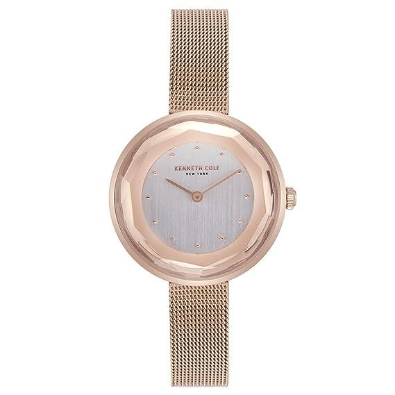 Kenneth Cole Reloj Analógico para Mujer de Cuarzo con Correa en Acero Inoxidable KC50204003: Amazon.es: Relojes
