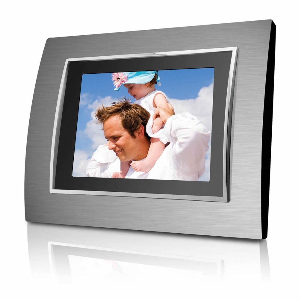 Coby DP-767 7-Inch Widescreen Digital Photo Frame with Multimedia Player (Includes 2 Metal Frames) by Coby