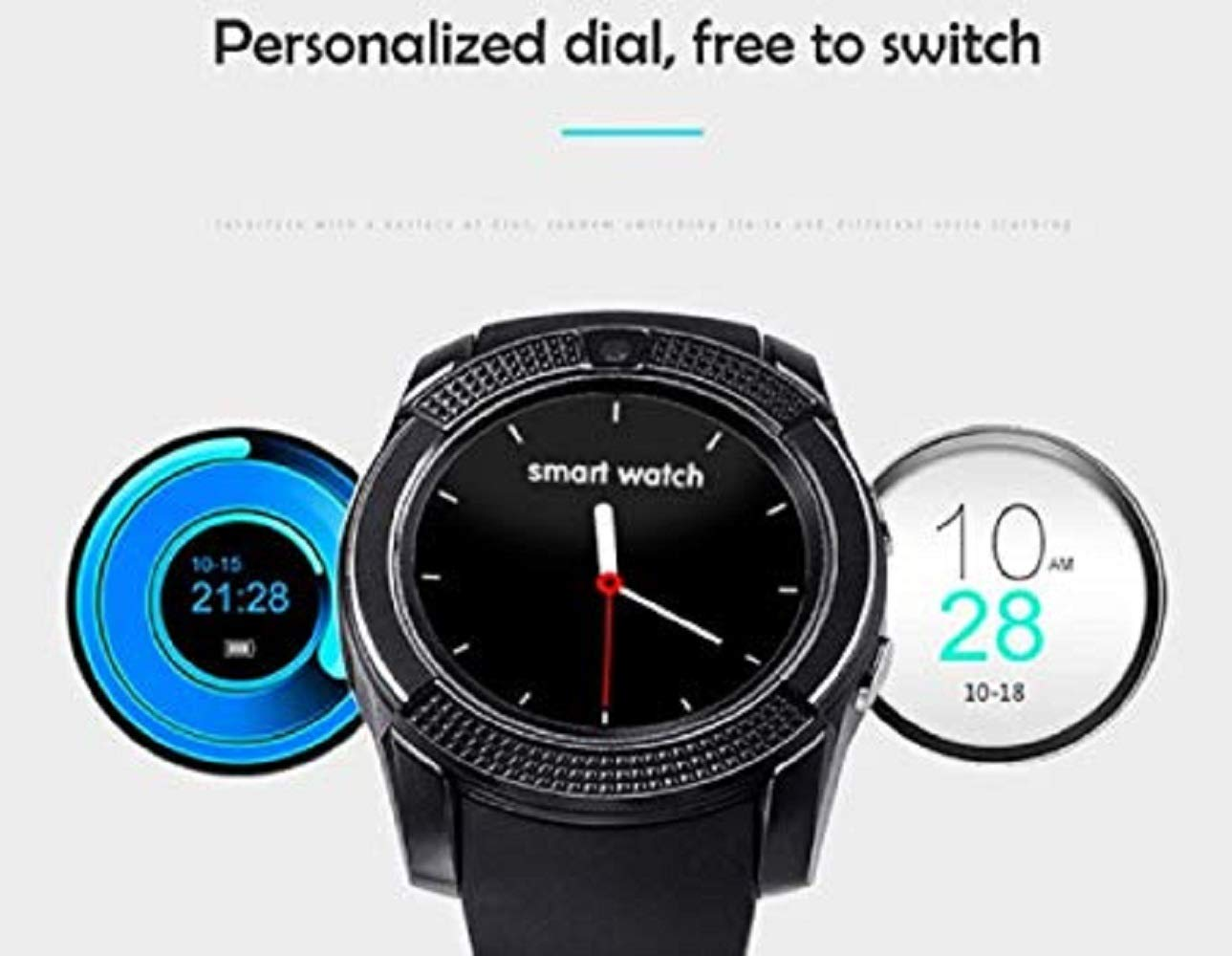 Android Smartwatch Bluetooth,Impermeable Reloj Inteligente con ...