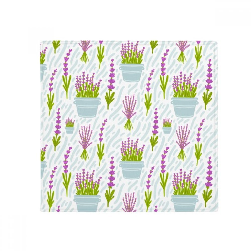 DIYthinker Lavender Potted Flowers Plant Painting Anti-Slip Floor Pet Mat Square Home Kitchen Door 80Cm Gift