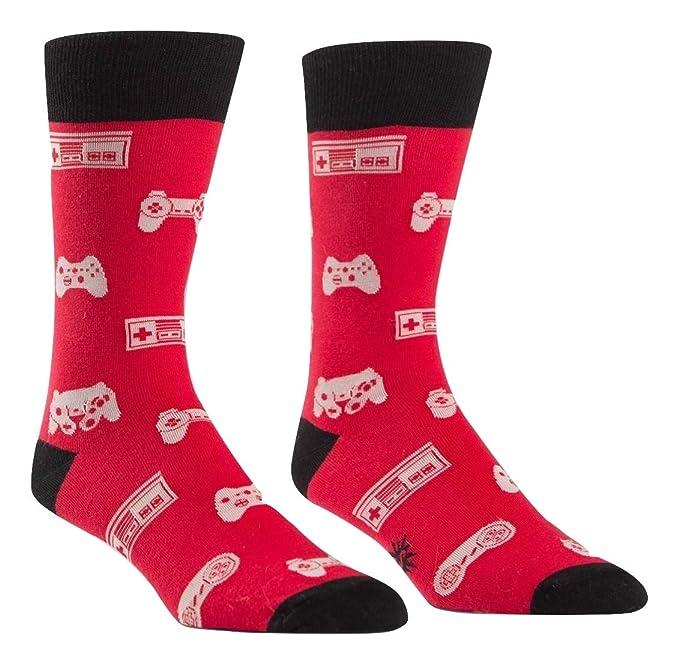Sock It To Me tripulación Calcetines Jugadores, Calcetines de Videojuegos Retro para Hombres Una Talla