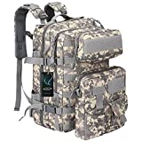 G4Free Military Tactical Molle Backpack Sport Outdoor versatile Rucksacks Camping Hiking Traveling Bag 40L(ACU Camouflage)