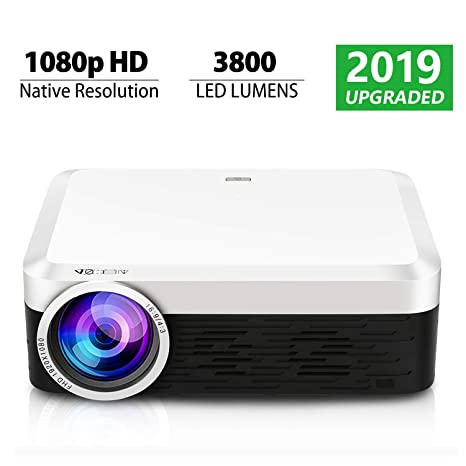 Projector, S02 Native 1080p HD LED Video Projector 3800 Lumens 200 inch Image Movie Projector, Ideal for PPT Business Presentations Home Theater HDMI ...