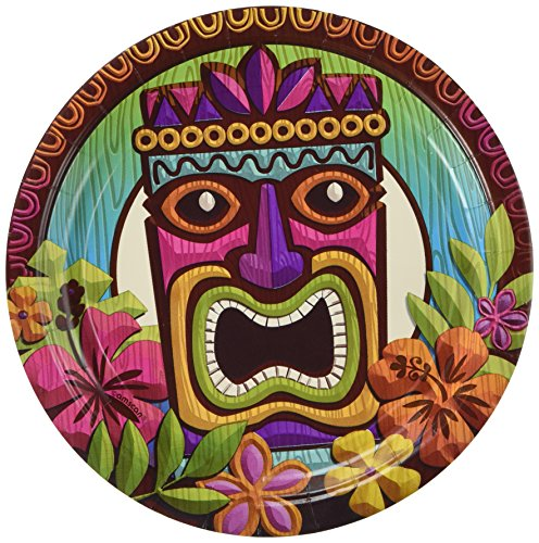 AmscanTropical Tiki Party Luncheon Plates, 9