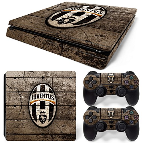 Price comparison product image PS4 Slim Vinyl Skin Sticker Decal Cover for PlayStation 4 PS4 Slim Console Controller Juventus