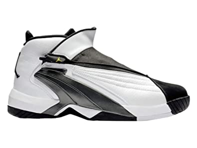 watch cf45c 56ccd Nike Jordan Mens Jumpman Swift 23 WhiteTour YellowBlack Leather Basketball  Shoes 8