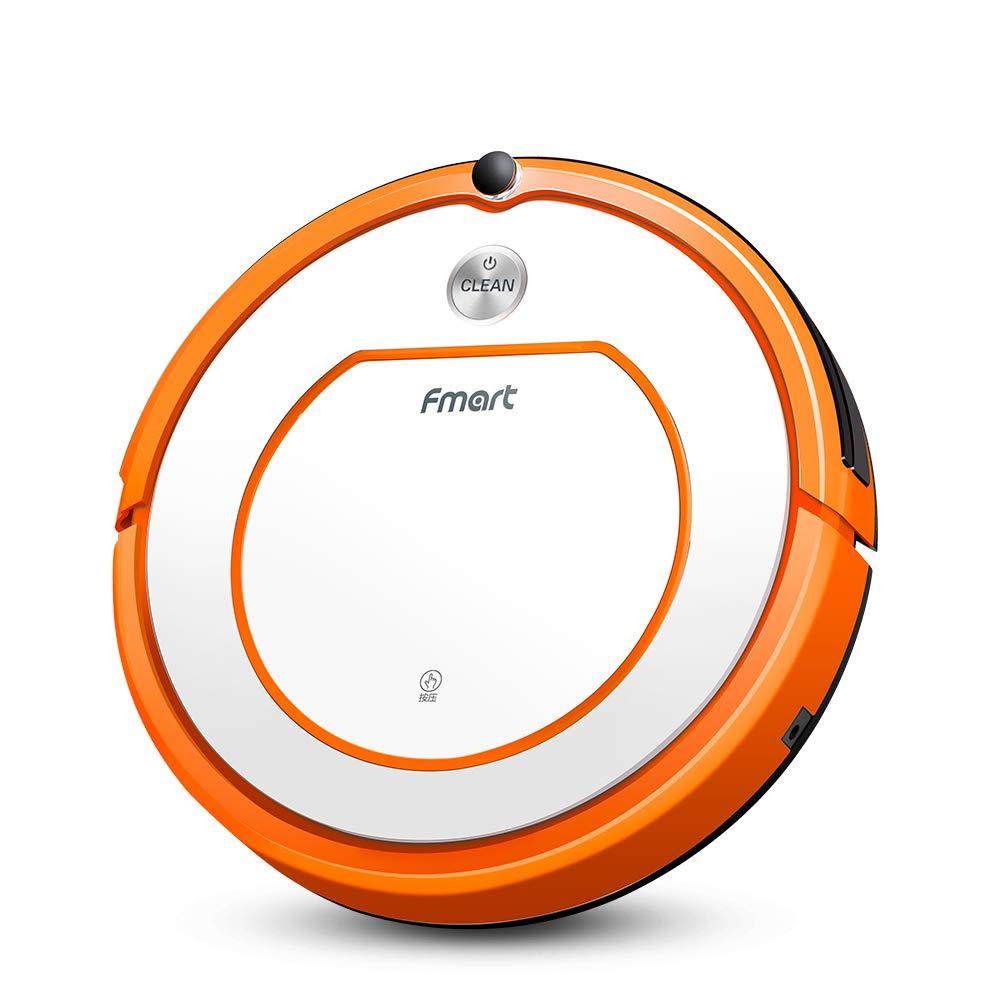 Acquisto Fmart Q2 Robot Aspirapolvere Pavimento Moquette Cleaner, Mop asciutto bagnato con serbatoio di acqua, robotica pulita per animali Allergeni casa, auto-selfcharging Schedue, Arancia Argento Prezzo offerta
