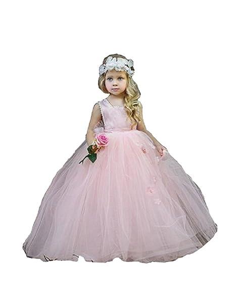 Amazon.com: yeoyaw 2018 Blush Pink Little niña de las flores ...