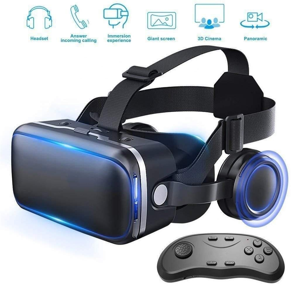 LBWT Home 3D Glasses, VR Headset Virtual Reality Glasses for VR Games & 3D Movies Pack with Remote Controller by LBWT