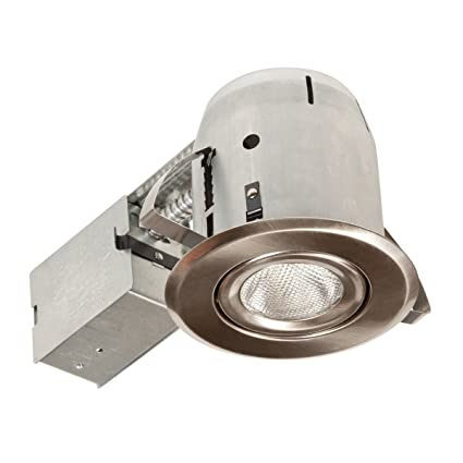 globe electric 90030 5 inch recessed lighting kit swivel brushed
