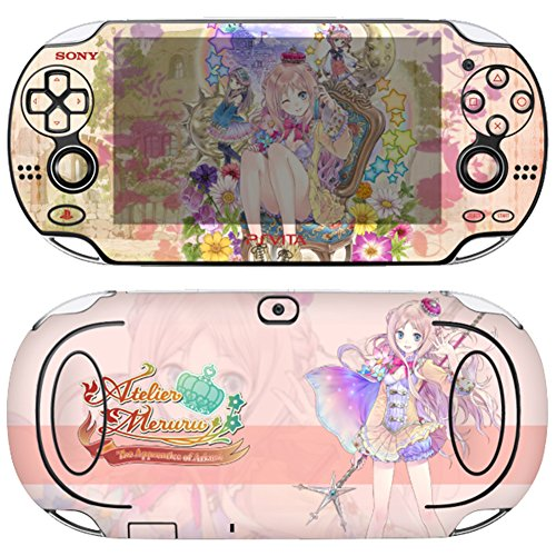 Premium Skin Decals Stickers For PlayStation VITA Original 1st Generation PCH-1000 Series Consoles Korea Made - POP SKIN Atelier #03 + Free Gift Screen Protector Film + Wallpaper Screen Image ()