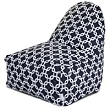 Majestic Home Goods Black Links Kick-It Chair
