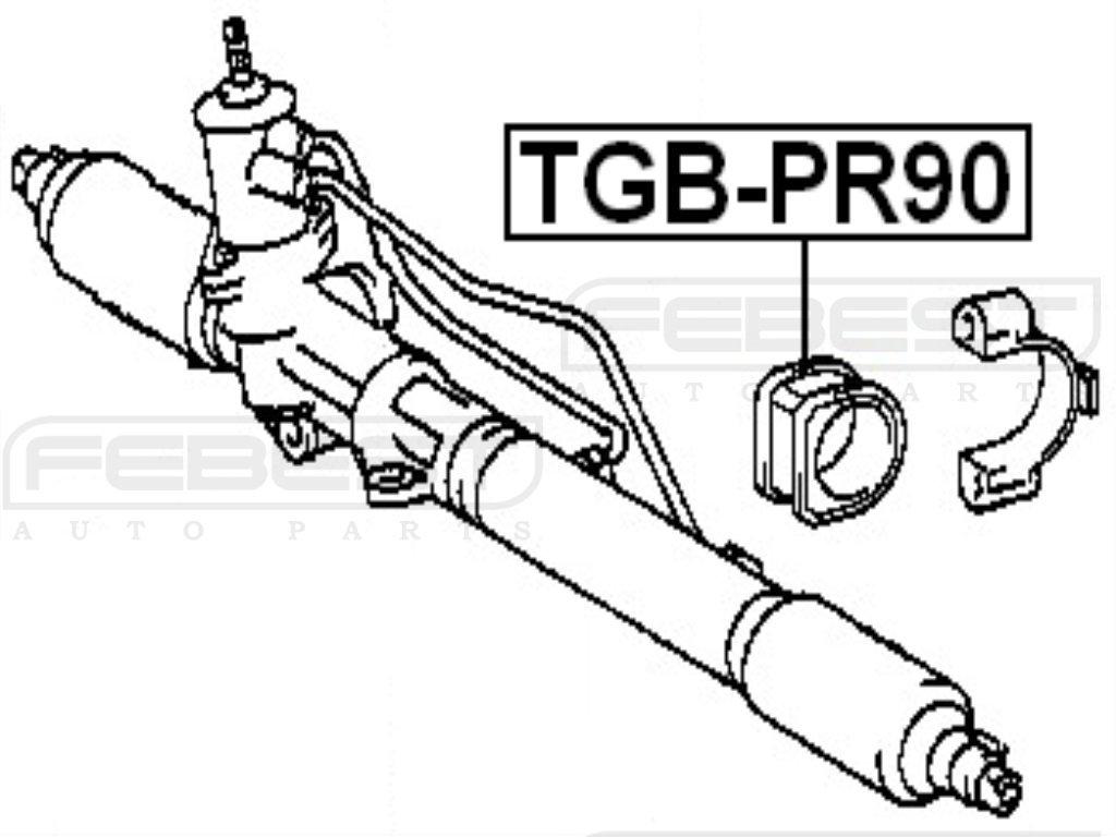 Grommet Steering Rack Housing Toyota Oem 45517-35010