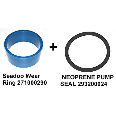 JSP Manufacturing SEA DOO Part # 271000290 + 293200024 Neoprene Seal 271000101-271000002 - SEADOO SP GT XP SPI SPX HX GS GTX GTS GTI WEAR Ring 140MM: Sports & Outdoors