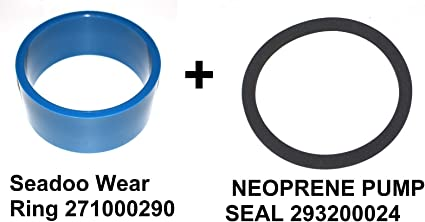 Amazon Com Jsp Manufacturing Sea Doo Part 271000290 293200024 Neoprene Seal 271000101 271000002 Seadoo Sp Gt Xp Spi Spx Hx Gs Gtx Gts Gti Wear Ring 140mm Sports Outdoors