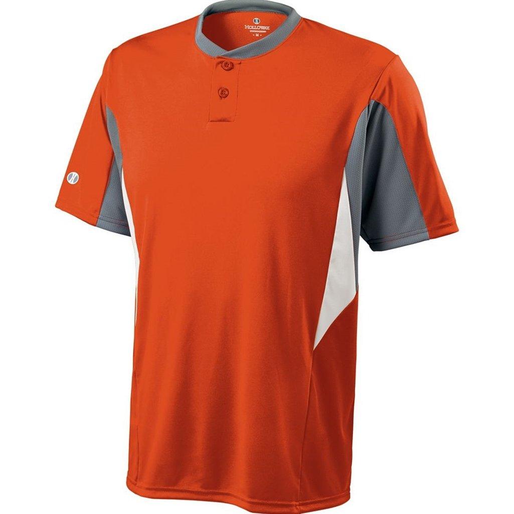 Holloway Dry-Excel Youth Rocket Jersey (Medium, Orange/Blue Grey/White) Holloway Sportswear